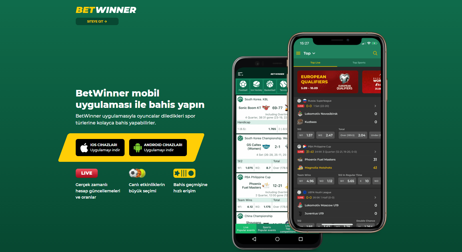 BetWinner Mobil Uygulaması